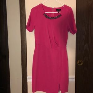 Worn once hot pink Jessica Simpson dress size new